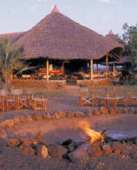 The camp fire is the highlight of a day at the Severin Safari Camp