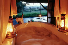 Enjoy the Luxury of a Bath After a Dusty Safari at the Cottars 1920 Safari Lodge