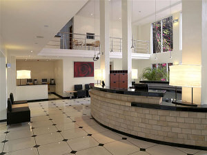 The entrance hall of the Country Lodge Nairobi City Hotel