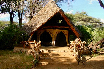 One of the Chalets at the Elephant Watch Camp
