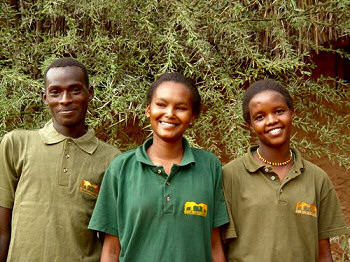 Some of the students at the Elephant Watch Camp participating in the Scholorship Programme