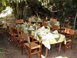 Romantic setting for dining at the Ilkeliani-Luxury Tented Camp