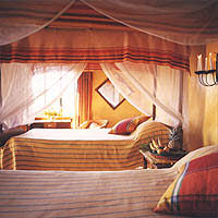 Room at the Ndali Lodge in Uganda