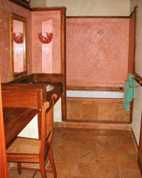 Spacious bathroom at the Ngare Sero Mountain Lodge
