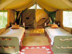 The Olakira Camp is a mobile camp moving along with the Migration in the Serengeti