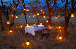 Romantic Bush-Dinner at the Olakira Mobile Camp