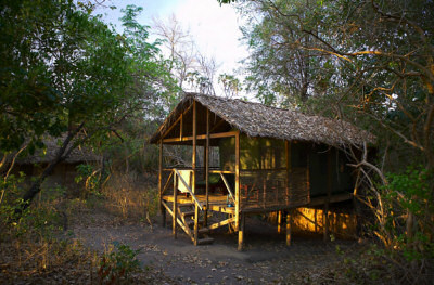 The Selous Mbega Camp at the mighty Rufigi River just 500 m away from the Selous Game Reserve