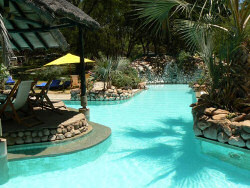 The refreshing pool area of the Sarova Shaba Lodge