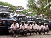 The Fleet of 4x4 cars of Sunworld Safaris