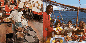 Take your lunch or candle lit dinner on the Dhow of the Tamarind Sea Food Restaurant