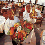 The friendly staff at the Tamarind Sea Food Restaurant serves some of the best dishes known.