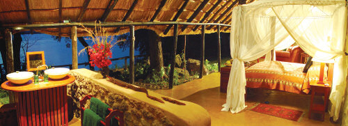 The Honeymoon House at the Tongabezi Lodge